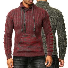 ZOGAA 2019 Mens Zip Wolle Pullover Pullover Lange Hülse Halben-Zipper Pullover Jumper Strickwaren Winter Kaschmir Outer Für Männer(China)