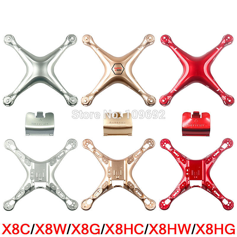 Original SYMA X8 X8C X8W X8G X8HC X8HW X8HG Main Body Cover RC Quadcopter Shell RC Drone Spare Parts Helicopter Case Accessories syma x8 x8c x8w x8g 2 4g rc drone quadcopter parts x8c 1 2 main body body shell 1set 2pcs lot free shipping