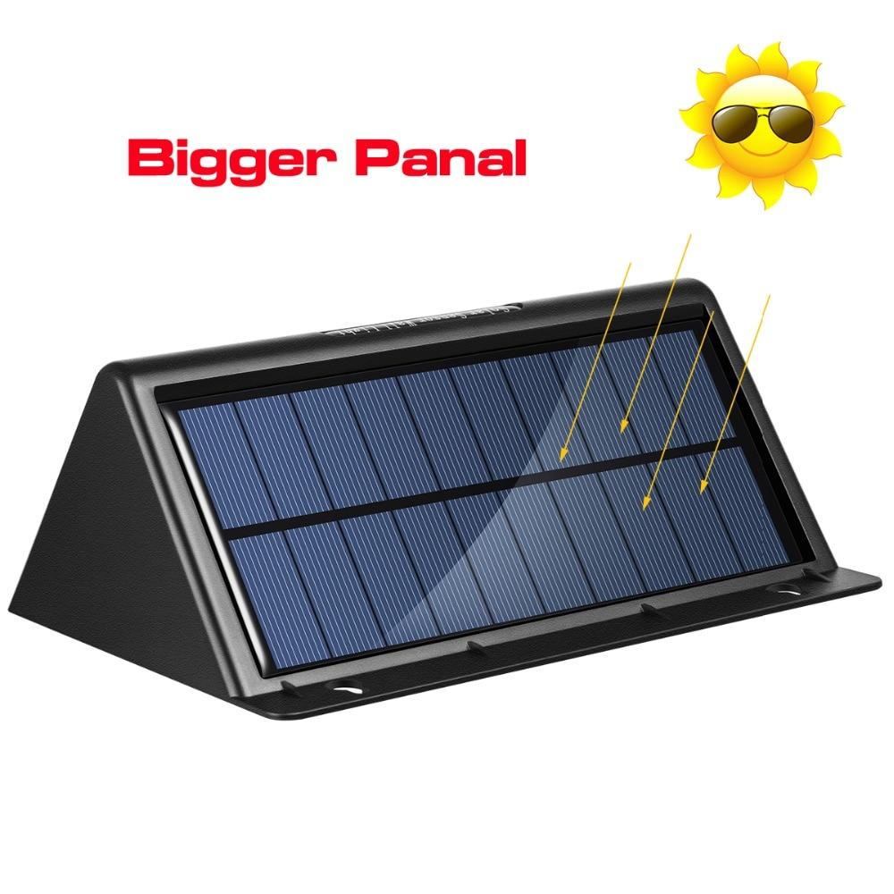 Espow 28 Leds 100LM LED พลังงานแสงอาทิตย์แสงพลังงานแสงอาทิตย์กลางแจ้งไฟไร้สายกันน้ำ IP65 ที่มีโคมไฟเซ็นเซอร์การเคลื่อนไหว PIR