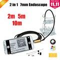 Oro 7 MM USB OTG Android Cámara Serpiente Endoscopio PC Android Teléfono con Cámara de 2 m 5 m 10 m Coche Endoscopio USB de inspección Cámara