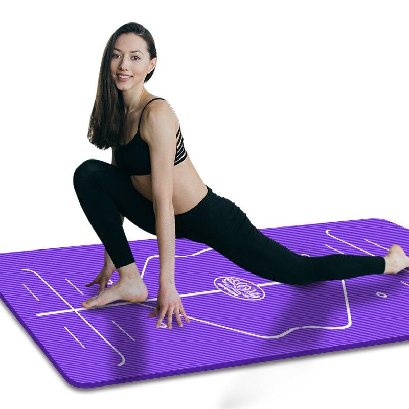 Position Line Premium Yoga Mats Tasteless Non-slip Beginners Exercise Gymnastics Mat 185 ...