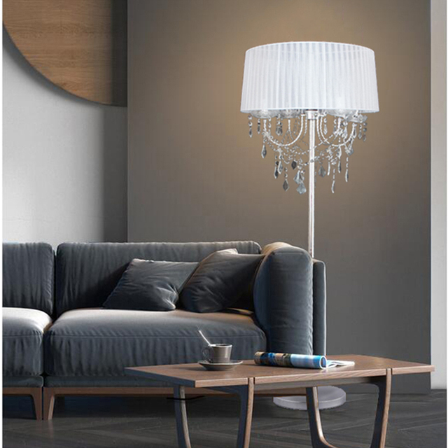 Elegant Luxury Led Crystal Floor Lamps Lights Indoor Brightness Modern Stand Light For Living