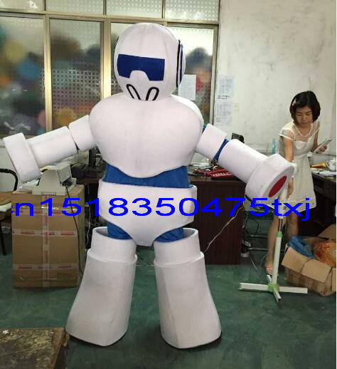 2017 nouveau robot mascotte costume fantaisie fête robe costume carnaval costume fursuit entreprise mascotte livraison gratuite