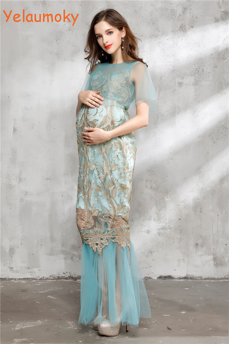 long sleeve Maternity Cotton Dress for photo shooting Photogrphy ...
