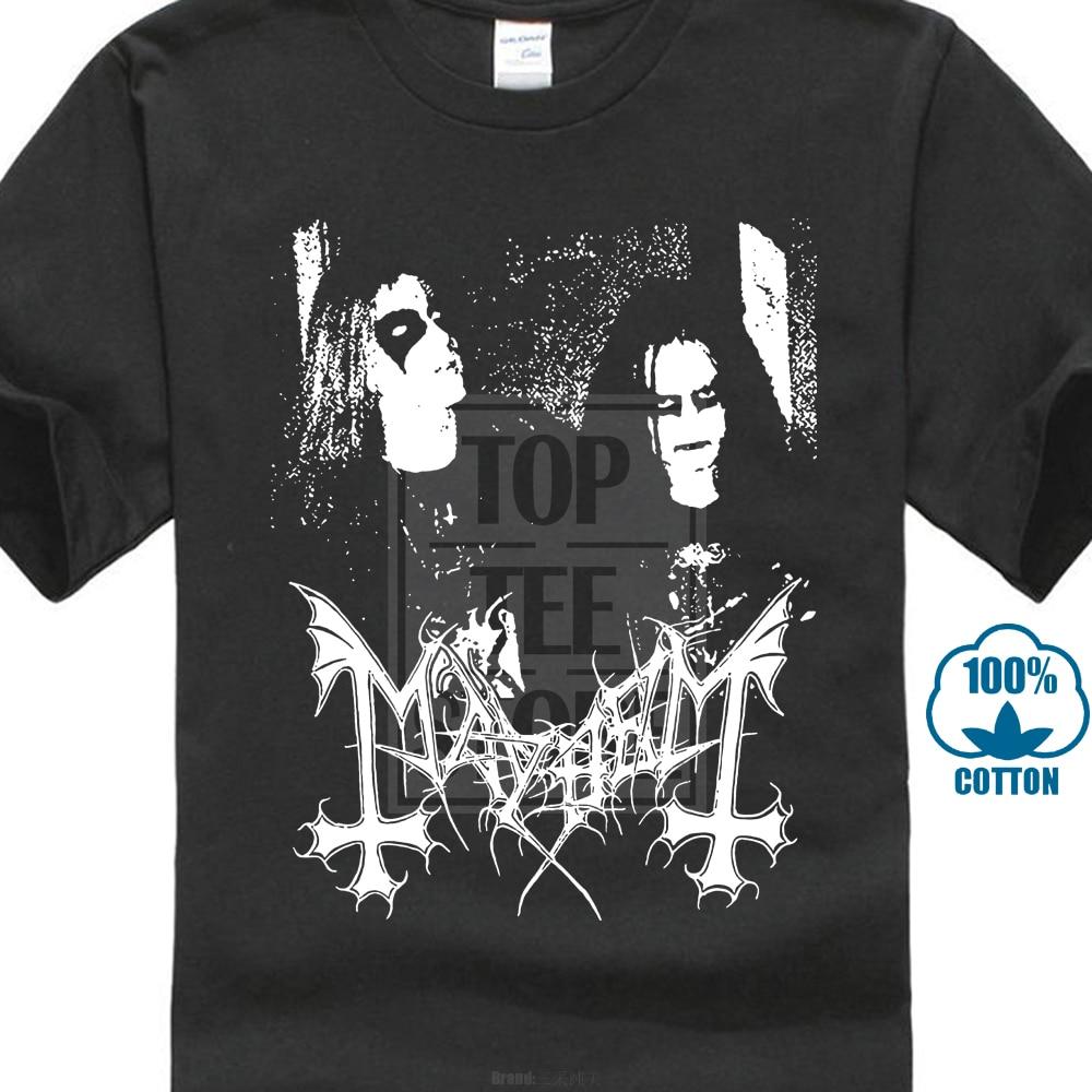 Mayhem T Shirt Dead Morbid Norwegian Black Metal Euronymous Hellhammer Watain Sleeve T Shirt Summer Men Tee Tops Clothing