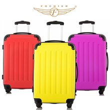 3 Colors 1 Piece ABS Wear-resistant Upright Travel Trolley Rolling Luggage Suitcase 20 24 28 Spinner 4 Wheels Fochier XQ008