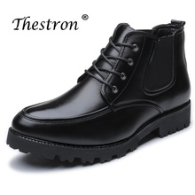 Thestron New Trend Shoes Men Winter Classic Chelsea Boots Suede Leather Black Autumn Boot 2018 Warm Snow