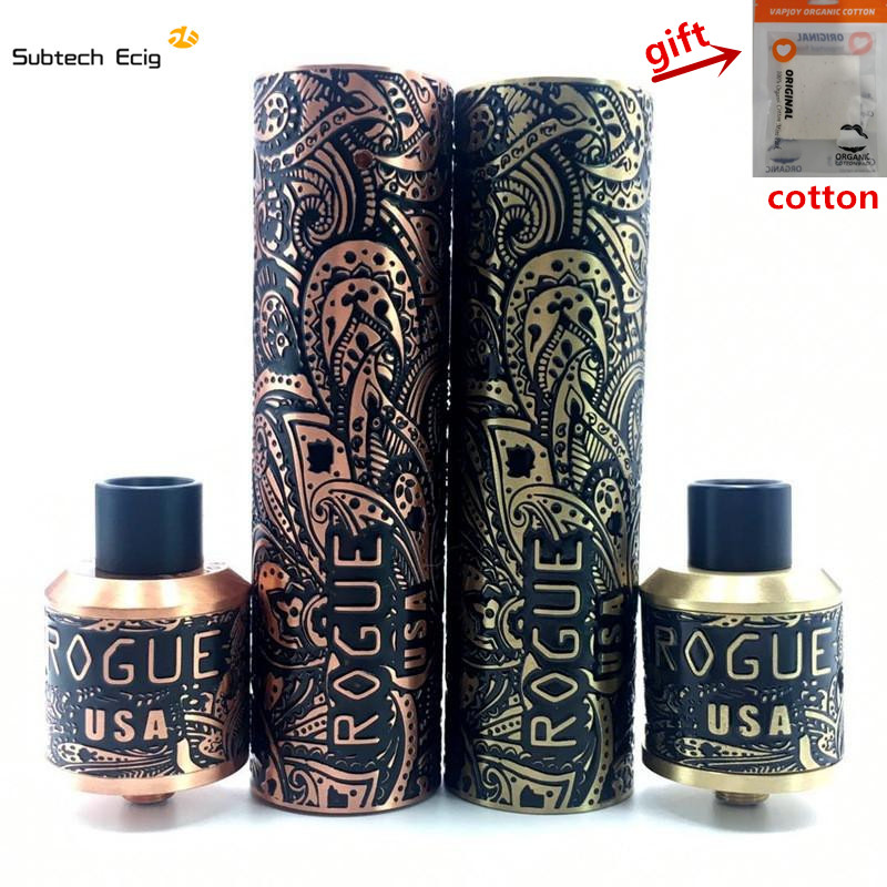 Rogue Mod Kit E Cigarette Mechanical Mod Best Vape Mod Kits High Quality Rogue Mech Mods Carved 18650 Mechanical Mods vape pen benecig killer 260w mechanical mod