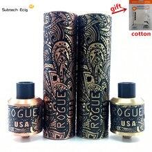 Rogue Mod Kit E Cigarette Mechanical Mod Best Vape Mod Kits High Quality Rogue Mech Mods Carved 18650 Mechanical Mods vape pen