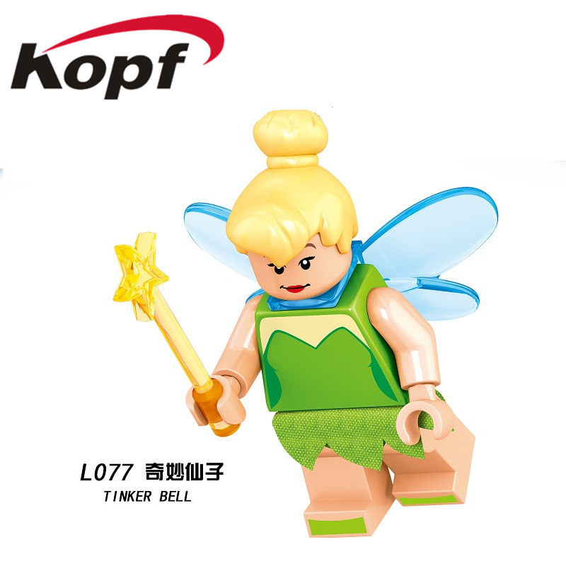 Single Sale Building Blocks Princess Series Cartoon Bricks Character Tinker Bell Action Collection For Children Gift Toys L077