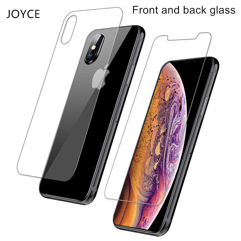 Front And Back Glass On The For Apple 8 Iphone Xs Max Protective Glas For Iphone X Xr Xs Max Screen Protector 6s 7 8plus Film 9h