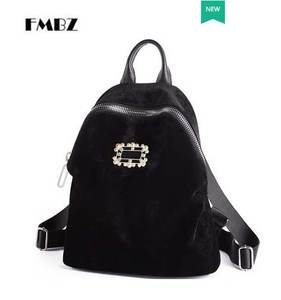 c3971070cf FMBZ velvet shoulder bag 2018 new trendy woman backpack
