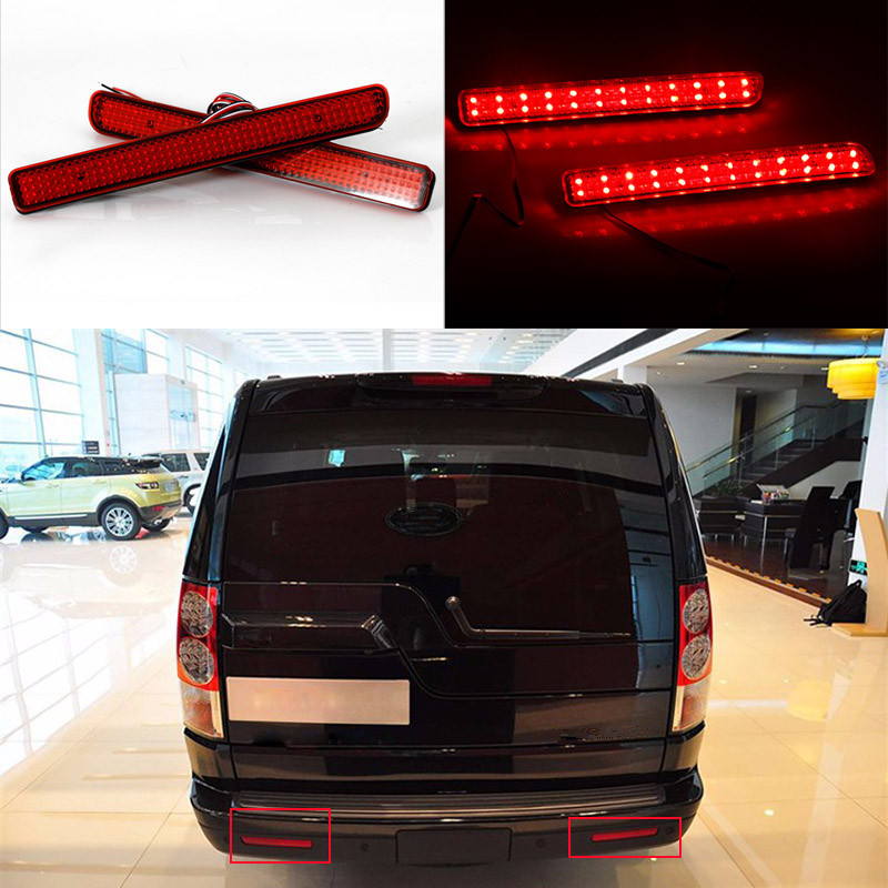 2 Pcs/Lot Car Styling 12V 4W Rear Bumper Lamp LED Turn Signal Warning Brake Light For Land Rover Discovery 3 4