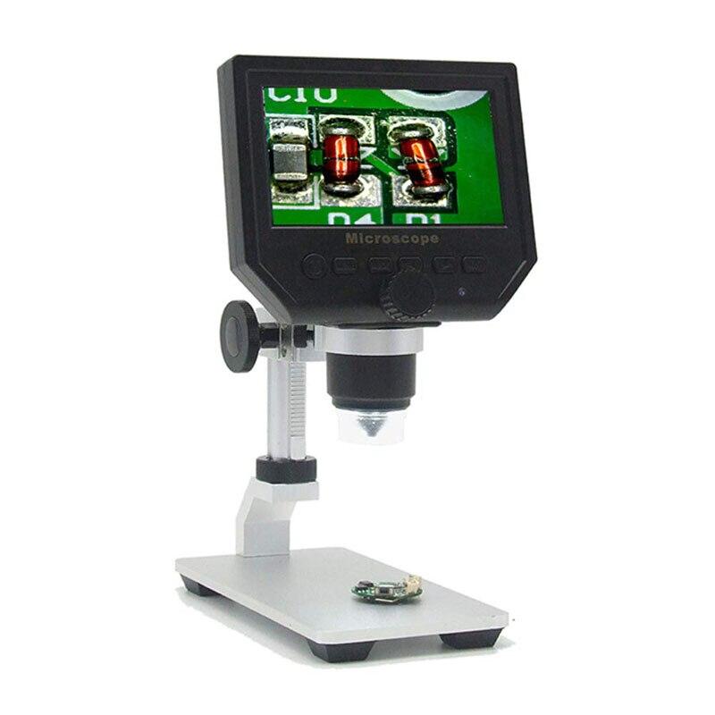 G600 1-600X Dijital Mikroskop 4.3 OLED Ekran Ekran ve metal braket, 3.6MP 1080 P/720 P Microscopio Mikroskop KameraG600 1-600X Dijital Mikroskop 4.3 OLED Ekran Ekran ve metal braket, 3.6MP 1080 P/720 P Microscopio Mikroskop Kamera