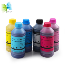 Refill pigment ink for hp designjet 5000 5500 5000pc 5000ps 5500pc printer, No clogging, 500 ml*6 colors
