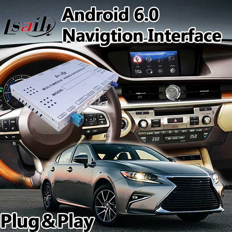 Android 6.0 Gps Navigation Interface Box for Lexus ES 250 / 300h / 350 / 200 2012-2017, Video Integration support Mouse Control коврик в багажник lexus es 300h 2012