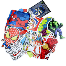 50pcs/set Marvel Anime Classic Stickers Kids Super Hero Superman Captain Batman Iron Joker  High Quality Waterproof PVC Sticker