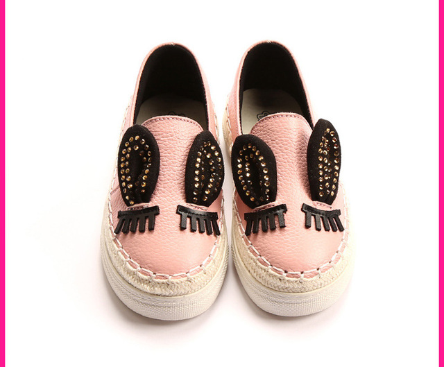 2016 spring new campus baby girls shoes Korean princess shoes leather cowhide female children