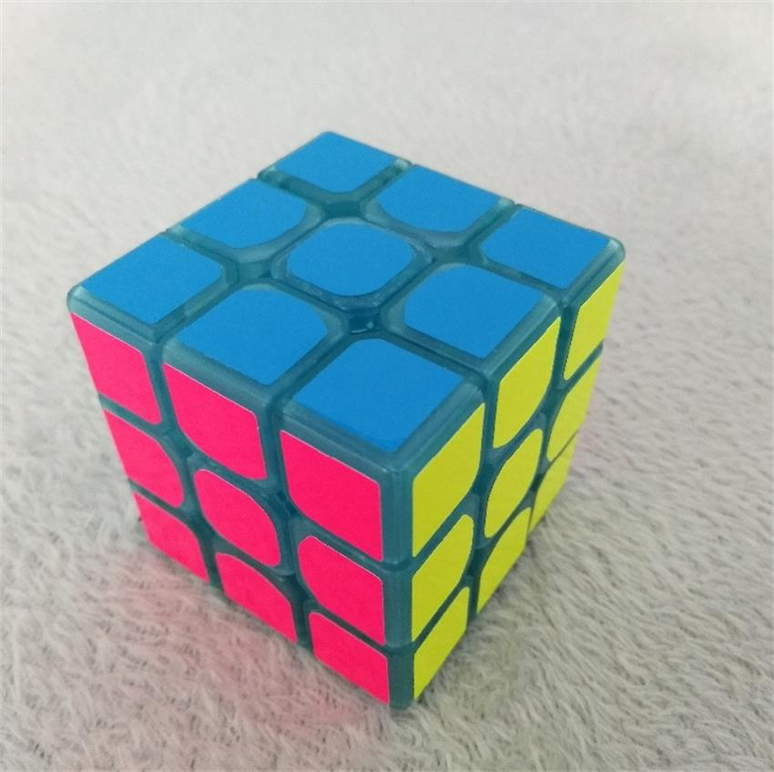 3 * 3 * 3 Mavi Aydınlık Pürüzsüz Hız neo Küp Çocuk Bulmaca - Oyunlar ve Bulmacalar - Fotoğraf 4