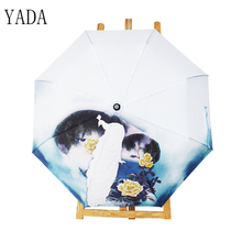 YADA Brand Peacock Pattern Umbrella Rain Women High Quality For Womens Windproof Folding Umbrellas Dropshipping YS165