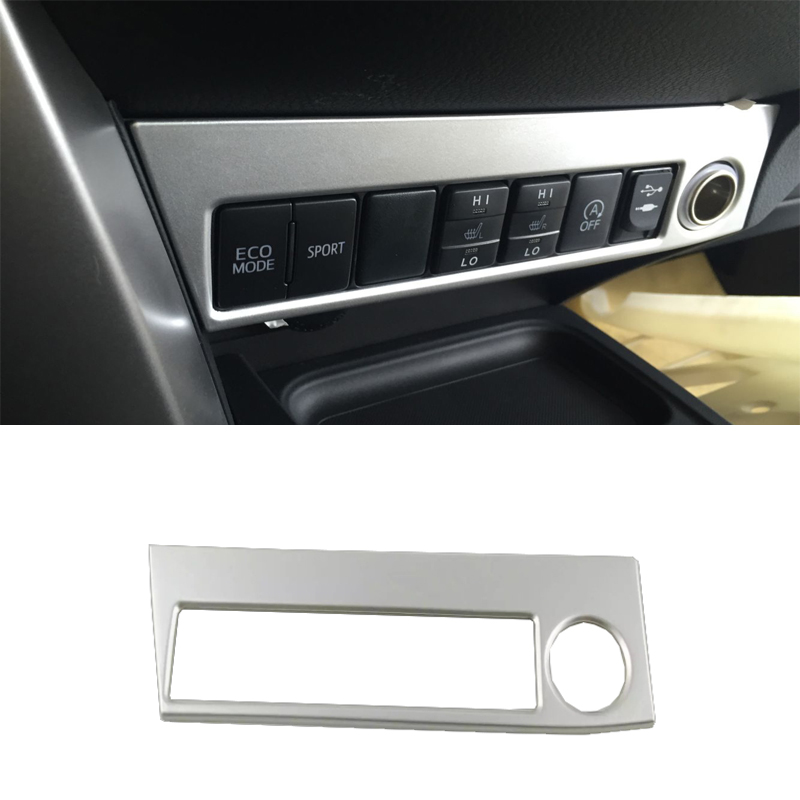 For <font><b>Toyota</b></font> <font><b>RAV4</b></font> 2016 2017 <font><b>2018</b></font> Cigarette lighter cover decoration chromium styling ABS interior mouldings products <font><b>Accessories</b></font> image