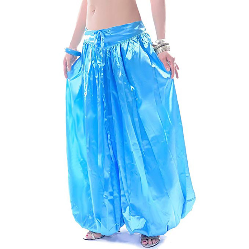 Image 3 - Hot sale ATS Tribal Belly dance Pants New Fashion Costume bellydance pants Bellydancing satin bloomers Dance Pantaloons 9002bloomers womencostume wolfcostumes cleopatra -