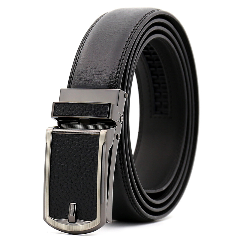 <font><b>SAN</b></font> <font><b>VITALE</b></font> Men <font><b>Belts</b></font> Luxury Famous Designer Brand High Quality Genuine Leather Straps Click Automatic Buckle <font><b>Belt</b></font> Ceinture Homme image