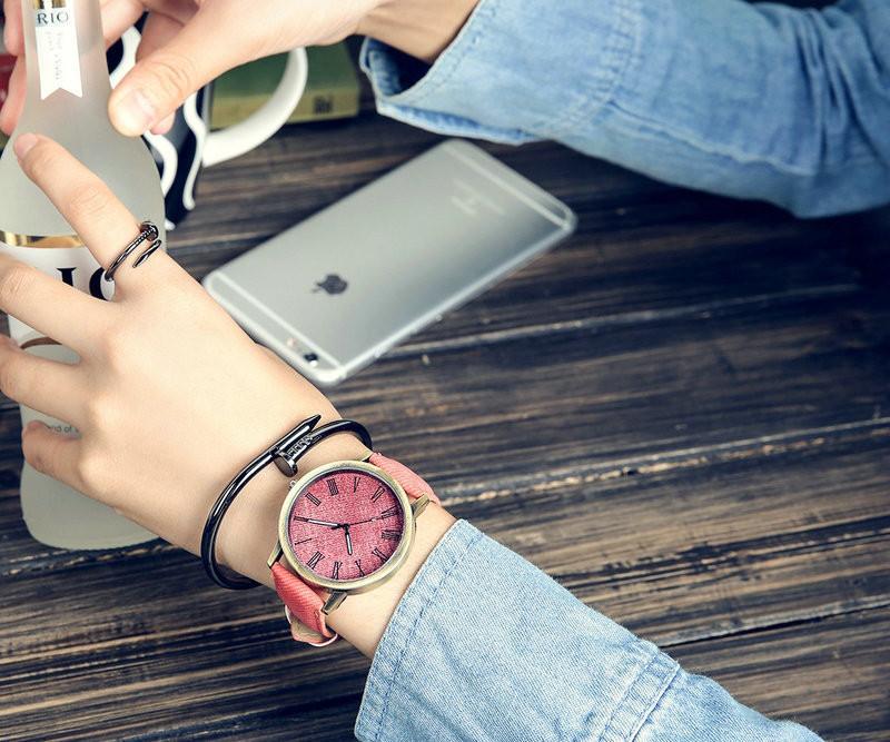 MEIBO Relojes Women Quartz Watches Denim Design Leather Strap Male Casual Wristwatch Relogio Masculino Ladies Watch female watch 9