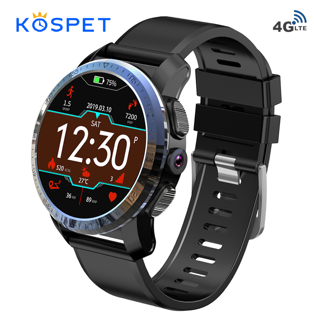 Kospet Optimus Pro Dual System 4G Smartwatch Phone Android 7.1 Sports 8.0MP Camera 3GB RAM 32GB ROM Smart Watch 800mAh WiFi GPS smartwatch kospet optimus pro