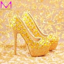 2016 New Fashion Luxury Rhinestone T Show Model High Heels Women Pumps Spring Diamond Wedding Shoes Platforms Prom Party Shoes