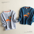 2016 Spring Boys Sweatshirts Baby Children Clothes Cotton Casual Boys cartoon lion Hoodies Tops kids boys shirts long sleeve
