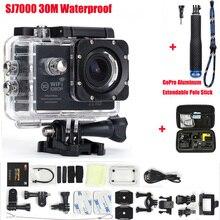 Действие Камера 2.0 дюймов Wi-Fi 1080 P 170 градусов объектив Go Pro Стиль Водонепроницаемый 30 М Спорт Камера + Алюминий Выдвижная полюс Stick + сумка