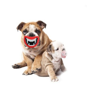 New Safe Durable Pet Dog Giggle Treat Training Chewing Devil's Lip Sound Activity Toy Squeaky Chew Play Toys for Dog Toys 1