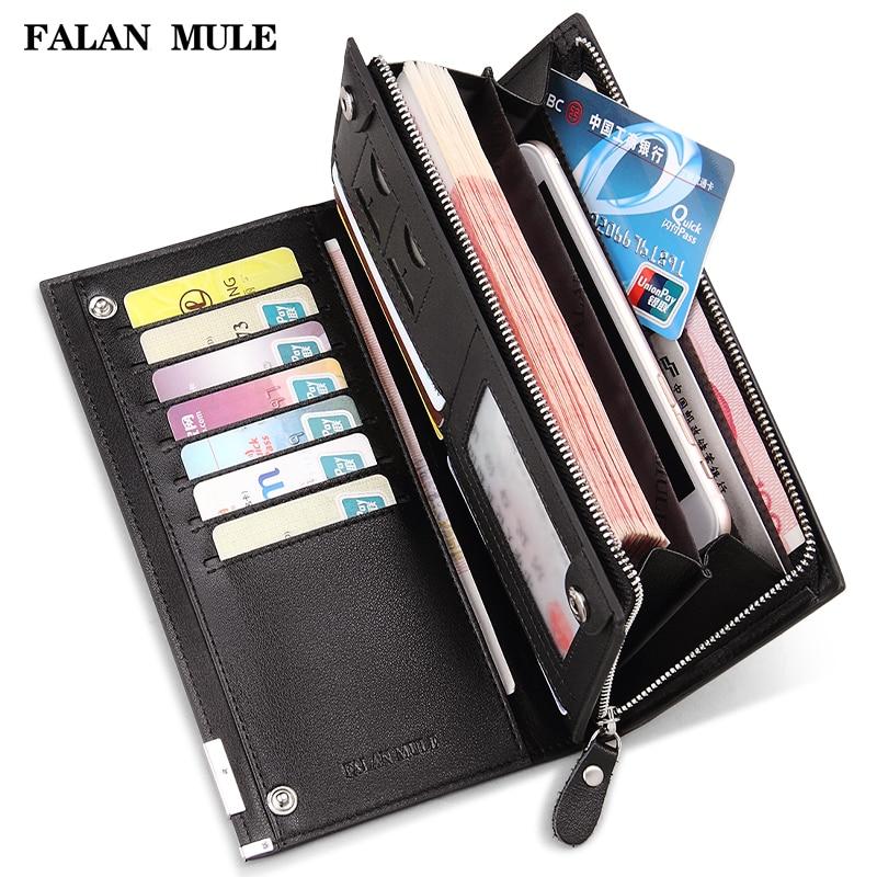 Hot Sale Purse Brand Men Wallets Long Men Purse Wallet Male Clutch Genuine Leather Wallet Men B