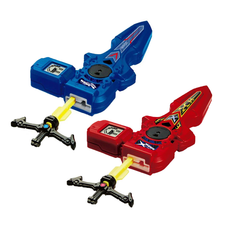 2 Styles Beyblade Launcher-Handle L/R Turning Digital Sword Spinning Top Accessories Toys With box