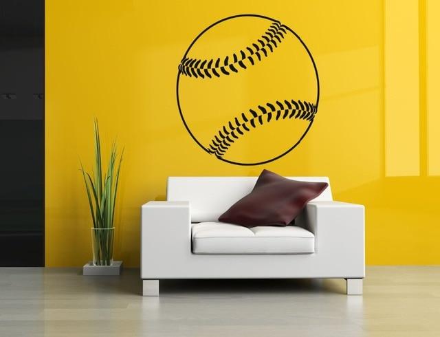 Muurtattoo baseball vinyl sport sticker woonkamer slaapkamer kids