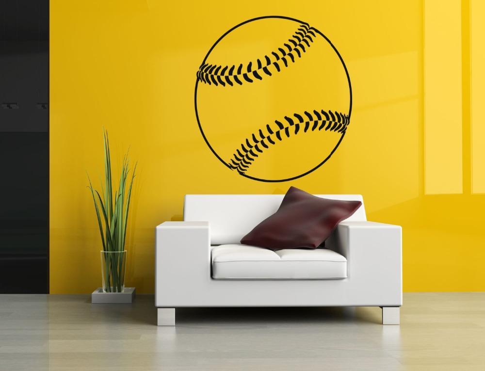 Wall Decal Baseball Vinyl Sports Sticker Living Room Bedroom Kids house Decoration Removable Art Design Home Accessories WW-153