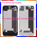 50pcs/lot White Black For Iphone 4 4G Chassis Back Housing Rear Cover Case Battery Door Replacement Tracling Code Free Shipping