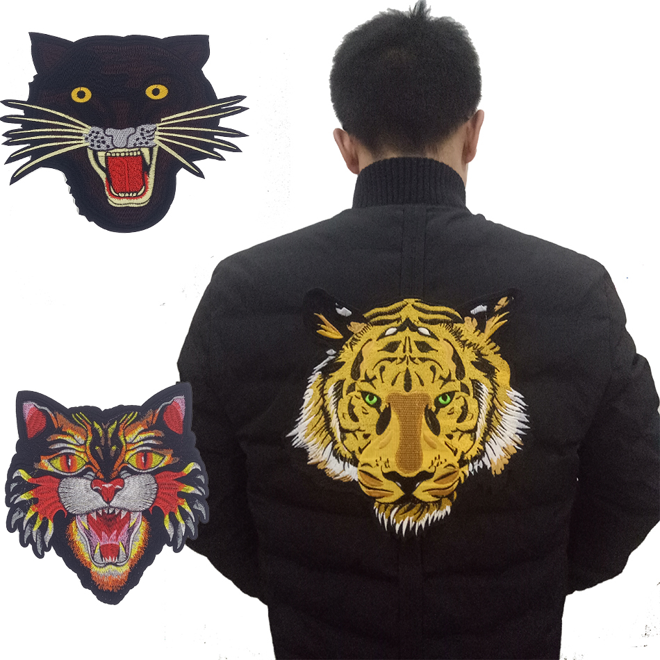 New! Large Embroidered Patch Iron on Yellow Tiger,vivid ...