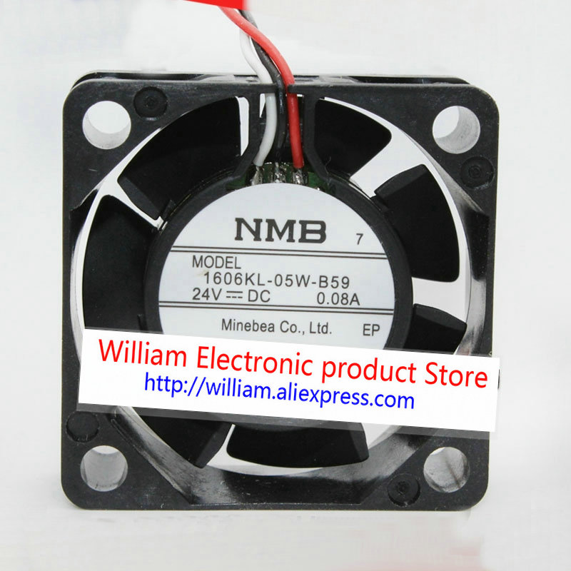 For NMB 1606KL-05W-B59 Cooling fan DC24V 0.08A 40*40*15mm 3pin