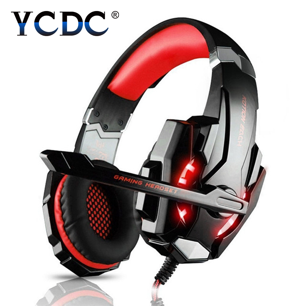 EACH G9000 gaming headphones for a mobile phone PS4/PC 3.5mm Wired Headphone with Microphone LED Lamp Noise Canceling Earphone
