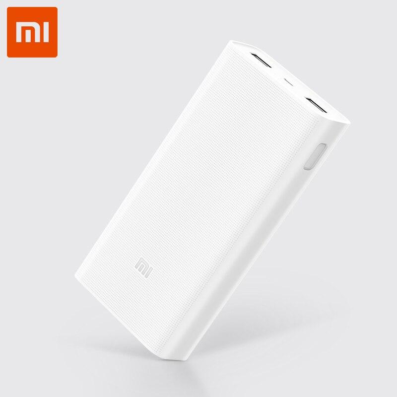 imágenes para Original 20000 mah de la energía del xiaomi bank2 Bidireccional QC3.0 Carga de batería Dual USB Energía De La Batería Móvil para Huwwei Xiaomi Sumsang Lenovo
