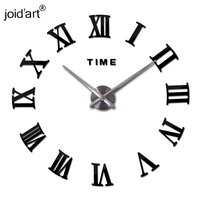 New large roman wall clock acrylic mirror diy clocks home decoration living room wall stickers modern design
