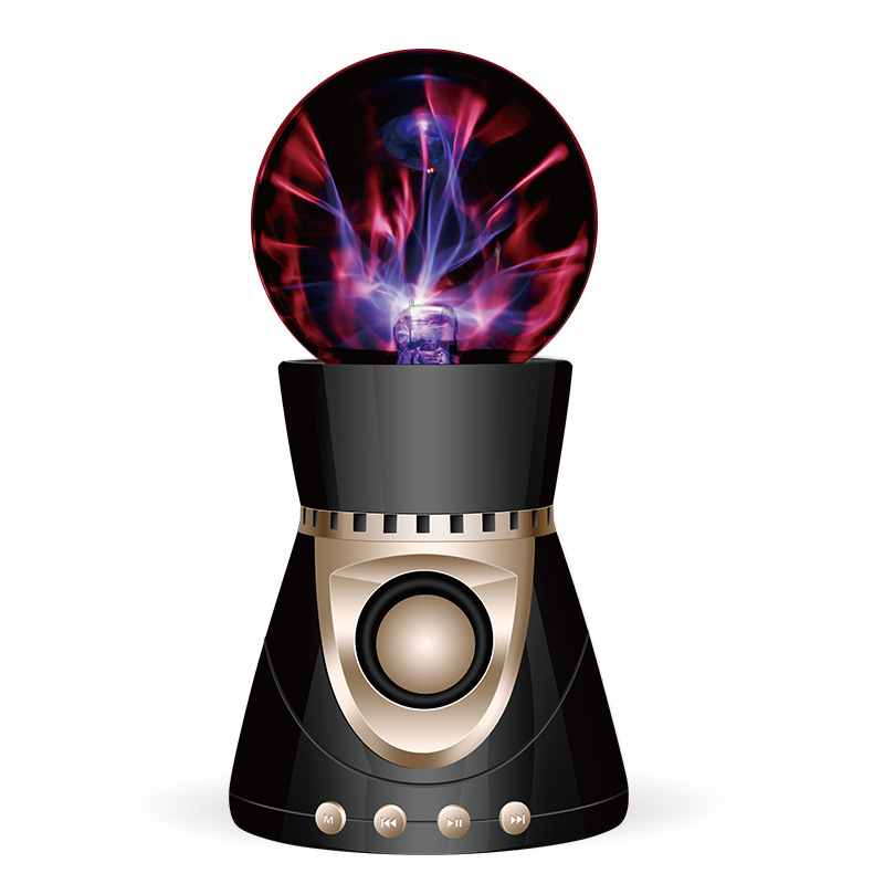 Bluetooth Wireless font b Speaker b font Magic Plasma Ball Light Flash Disco Lamp Loudspeaker Sound