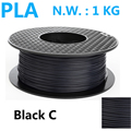 Black color PLA 3d printer filament high strength 1kg pla filament impressora 3d filamento 1.75mm 3d pen plasti filament