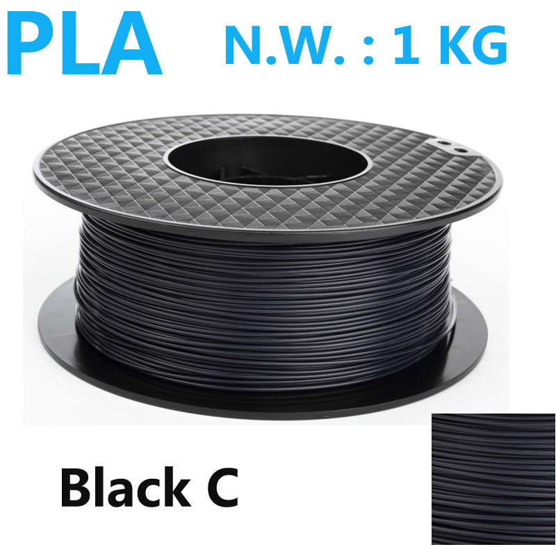 Black color PLA 3d printer filament high strength 1kg pla filament impressora 3d filamento 1.75mm 3d pen plasti filament pla filament 3 00mm 1kg 2 2lbs white color for 3d printer plastic reprap wanhao makerbot free shipping