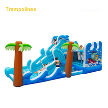 5602 PVC Bounce house inflatable trampoline jumping bouncy castle bouncer jumper with climbing indood playground for kids