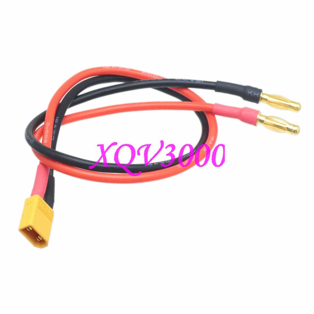 XT30 Male to Banana Plug 4mm Battery Charger Cable 16 Gauge Wire-in ...