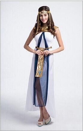 trasporto libero di halloween costume dea greca vestito regina egiziana bianco formato libero