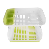 Double Layer Kitchen Dishes Draining Rack Bowls Storage DrainingDining Table Dish Cup Plate Drying Organizer Holder Shelf GG